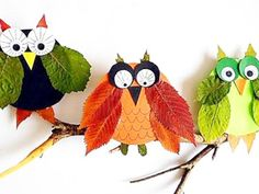 Beautiful Leaf Crafts - Red Ted Art - - Gorgeous Leaf Crafts for Autumn and Thanksgiving. Check out these stunning leaf crafts and incorporate them in your Thanksgiving and Fall activities! Autumn Leaves Craft, Autumn Crafts, Nature Crafts, Leaf Crafts, Owl Crafts, Fun Crafts For Kids, Diy For Kids, Leaf Animals, Autumn Activities
