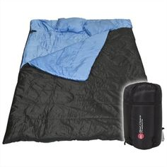 """Huge Double Sleeping Bag 23F/-5C 2 Person Camping Hiking 86""""x60"""" W/2 Pillows New Best Choice Products http://smile.amazon.com/dp/B008G3Z8U0/ref=cm_sw_r_pi_dp_SlN0tb1PKJPV6S92"""