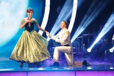 """Dancing With the Stars - Nastia Liukin and Derek Hough danced an absolutely charming jazz routine to """"Love Is An Open Door"""" from Frozen - Season 20 - Week-5 Disney Night - Spring 2015 - score - 9+9+10+10 = 38"""