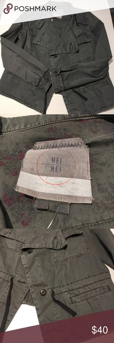 Anthropologie Hei Hei gray jacket Awesome grungy cargo jacket from Hei Hei. Perfect condition.                                                                3478-45EG Anthropologie Jackets & Coats