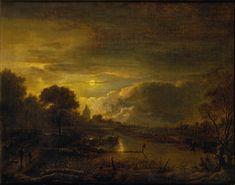 Neer Aert van der - River Scene by Moonlight
