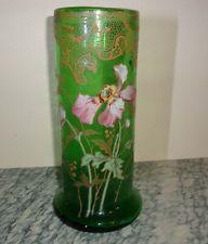 Vase Legras Montjoye verre émaillé Art Nouveau