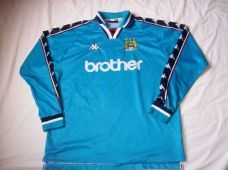 9840d7029f0 1997 1999 Manchester City L s Adults XL Home Football Shirt Man Top Classic  Football