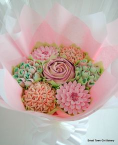 Cookie Bouquet, Flower Cookies, Cupcake Cookies, Cookie Favors, Baby Cookies, Heart Cookies, Sweet Cupcakes, Love Cupcakes, Yummy Cupcakes