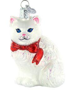 Amazon.com: Old World Christmas Princess Kitty Glass Blown Ornament: Home &…