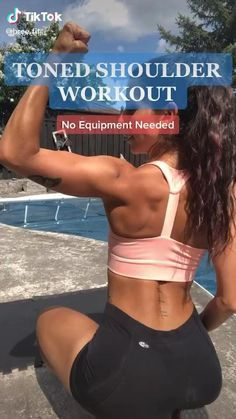 Shoulder Workout At Home, Leg Workout At Home, Gym Workout Videos, Fitness Workout For Women, Body Fitness, Easy Workouts, At Home Workouts, Workout Routines, Shoulder Workout Women