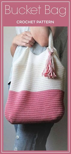 CROCHET PATTERN Crochet Tote Bag PATTERN, Bucket Bag, Boho Crochet, Boho Bag, Purse Pattern, Hand Bag, Slouchy Bag, Crochet Sac, Summer Tote #crochetpattern #crochet #bag #affiliate #tote #crochetbags