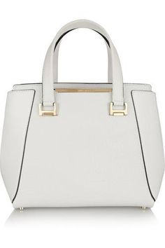 Alfie medium textured-leather tote #totebag #women #white #leather #gold #summer #covetme #jimmychoo