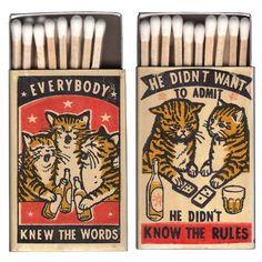 Matchbox Art Of Drunk Cats – Design You Trust