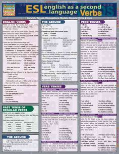 English As a Second Language: ESL Verbs (Wallchart) More