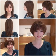 Pin on over 50 Pin on over 50 Short Styles, Medium Hair Styles, Long Hair Styles, Before After Hair, Short Hairstyles Fine, Square Faces, Over 50, Hair Remedies, Japanese Beauty