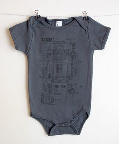 R2D2 Blueprints Onesie