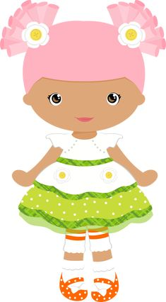 Lalaloopsy, Felt Dolls, Paper Dolls, Girls Clips, Cute Clipart, Girl Clipart, Illustration Girl, Digi Stamps, Cute Images