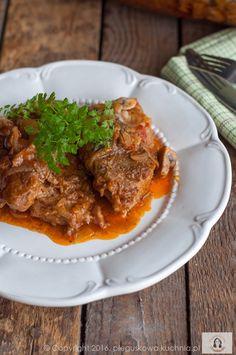KARKÓWKA Z OGÓRKAMI KISZONYMI Ceviche, Lasagna, Carne, Oven, Pork, Meat, Ethnic Recipes, Blog, Gourmet