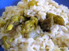Risotto agli asparagi - Asparagus risotto http://zampetteinpasta.blogspot.it/2015/05/risotto-agli-asparagi.html