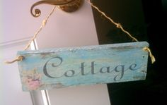 Romantic Cottage Sign Floral Garden Sign Shabby by HickoryandLace