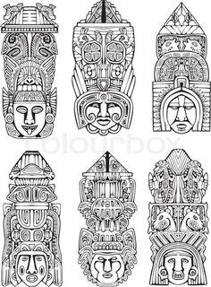 Aztec totem designs                                                                                                                                                                                 Mehr