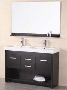 double bathroom vanities under 60 for a small master bathroom