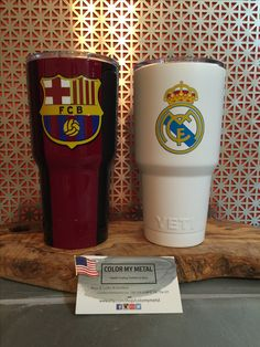 Get your own personalized Yeti tumbler, RTIC tumbler, yeti cup, RTIC cups.  Barcelona yeti, Real Madrid  yeti
