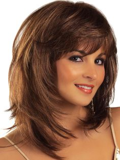 18inch Auburn Red Short Full Big Curly Layered Medium Size Shoulder Length with Bangs Synthetic Wig