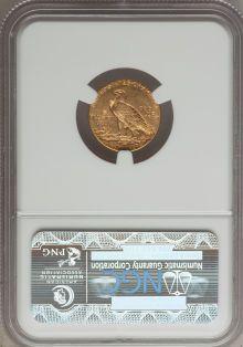 Indian Quarter Eagles: , 1914-D $2 1/2 AU58 NGC. NGC Census: (1687/8736). PCGS Population(1084/4213). Mintage: 448,000. Numismedia Wsl. Price for p...