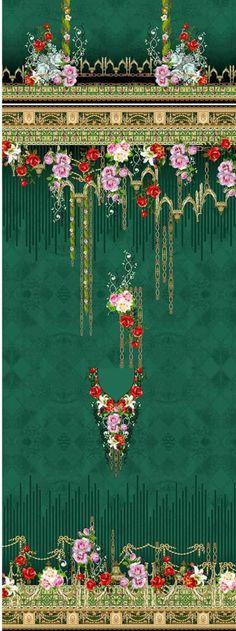 Textile Patterns, Textile Design, Textiles, Design Seeds, Album Design, Motifs, Flower Art, Baroque, 3 Piece