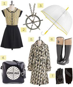 Rainy winter weather yellow black fashion from Whorange.net / #panam #panambrands #panambags #innovator #whorange #rainyday