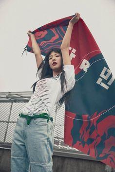 Photo )) Red Velvet SeulGi For Nike 'Red Devil' Collection Kpop Girl Groups, Kpop Girls, Korean Girl Groups, Red Velvet Seulgi, Red Velvet Irene, Oppa Gangnam Style, Park Sooyoung, Kang Seulgi, Kim Yerim