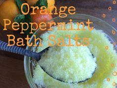 Recipe: Orange Peppermint Bath Salts-- http://www.bulkapothecary.com/blog/other-recipes/recipe-orange-peppermint-bath-salts/