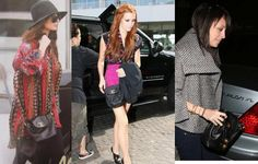 Nicole Rishie and Ashlee Simpson are wearing CHANEL vintage pochette bags. Same bags are available here http://www.garo-luxury.com/?pid=1049925
