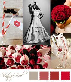 Wedding Moodboard | Vintage red
