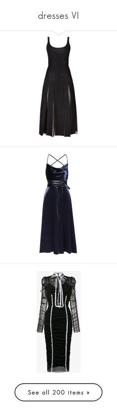 """dresses VI"" by dudandradep ❤ liked on Polyvore featuring dresses, valentino, lip print dress, calf length dresses, embellished dress, lips dress, pleated dress, vestidos, blue and blue midi dress"
