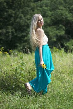 Blogger Lacy Rose in a Deb Shops maxi dress
