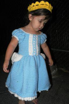 Cinderella Crochet Dress Toddler by LennaRaineCreations on Etsy, $49.99