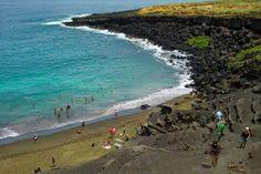Papakolea green sand beach near Ocean View, Hawaii. - MARCO GARCIA/ASSOCIATED PRESS/AP Images