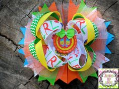Flip Flop Girl Fun in the Sun OTT Stacked Hair Bow by JazzedUpBows, $7.00