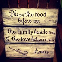 Custom Made Large Handmade Wooden Kitchen Dining Room Family Sign. $45.00, via Etsy.
