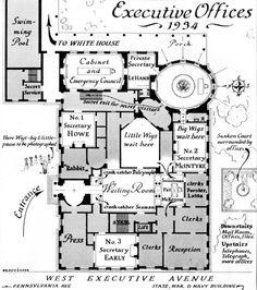 West Wing 1945 Patrick Phillips White House Blueprints