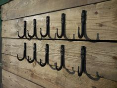 Set of 10 handmade forged small hooks Towel Mug от SiberianWroughtIron  #Hooks #forged #hangers #wall #decor #wrought #iron #blacksmith #handmade #decorative  #art #Home