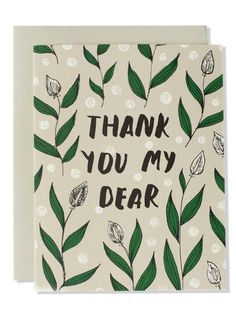 Thank You My Dear Modern Floral Card | Sycamore Street Press