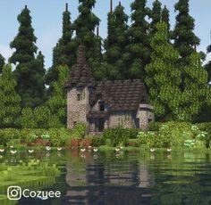 Minecraft Small House, Minecraft Garden, Minecraft House Plans, Minecraft Cottage, Minecraft Castle, Minecraft Medieval, Cute Minecraft Houses, Minecraft House Designs, Amazing Minecraft