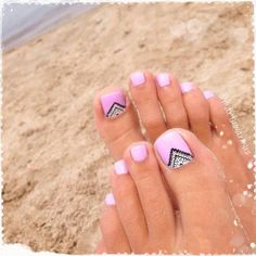 New nails summer feet manicures ideas - Best Nail Art Fancy Nails, Love Nails, Pretty Nails, My Nails, Cute Toe Nails, Pretty Toes, Gel Toe Nails, Pink Toe Nails, Feet Nails