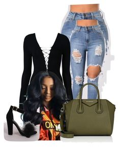 """""""Untitled #349"""" by qveen-jay24 ❤ liked on Polyvore featuring T By Alexander Wang, Shoe Republic LA and Givenchy"""