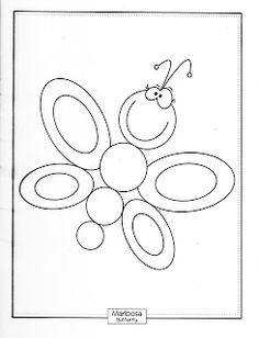 Butterfly Coloring Pages For Kids - Preschool and Kindergarten Cool Coloring Pages, Coloring Sheets, Drawing For Kids, Line Drawing, Doodle People, Butterfly Coloring Page, Rock Painting Designs, Animal Quilts, Stuffed Animal Patterns