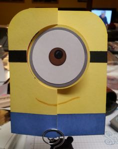 minion with circle card thinlit die - Melony Moore