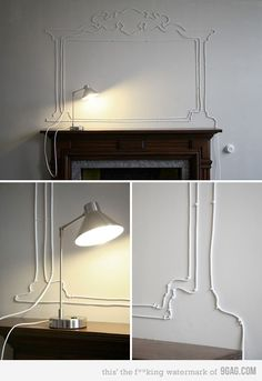 Cool idea: Don't like to see your cables? Try this!