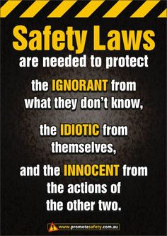 Safety Laws Safety Sign