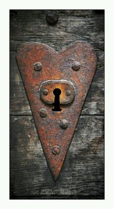 Rusty Heart Shaped Lock