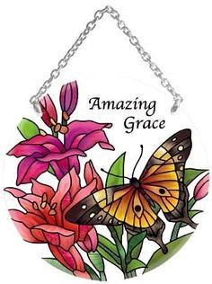 Butterflies Stained Glass Suncatcher
