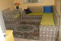 мебель из пластиковых бутылок своими руками: 2 тыс изображений найдено в Яндекс.Картинках White Side Tables, Toddler Bed, Furniture, Home Decor, Bottles, Ideas, Child Bed, White End Tables, Decoration Home